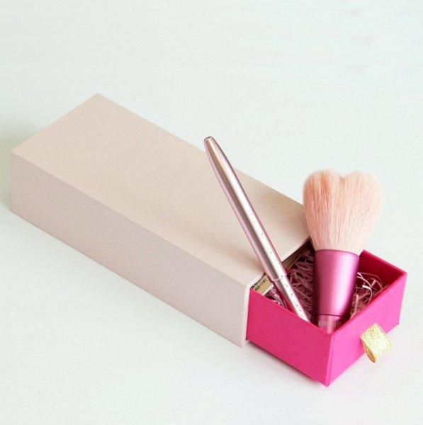 画像1: 熊野筆メイクブラシ 【ギフトセット】 リップブラシ&ハート型洗顔ブラシ (1)