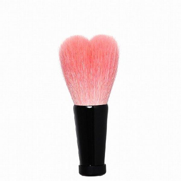 画像1: ハート型洗顔ブラシ 小 ピンク/黒軸 (1)